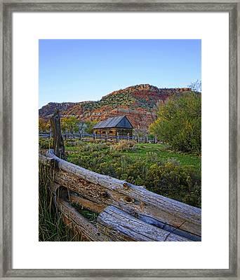 Old Farm Autumn Framed Print by Rick Lewis