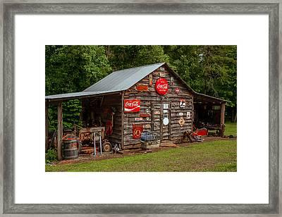 Old Farm Barn Framed Print by Marion Johnson