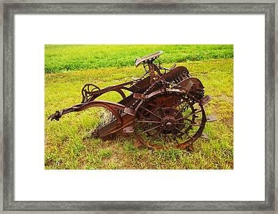 Old Farm Equipment Hardin Montana Framed Print by Jeff Swan