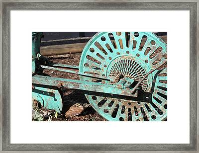 Framed Print featuring the photograph Old Farm Equipment by Todd Blanchard