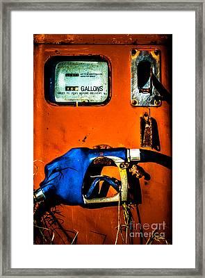 Old Farm Gas Pump Framed Print