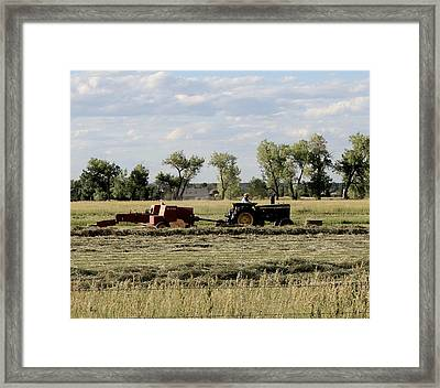 Old Farm Hand Framed Print