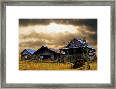 Framed Print featuring the photograph Old Farm House by B Wayne Mullins