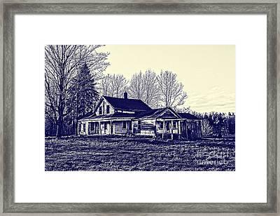 Old Farm House Framed Print by Jim Lepard