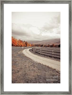 Old Farm Lane Framed Print by Edward Fielding