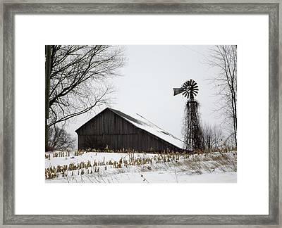 Old Farm Framed Print by Linda Kerkau