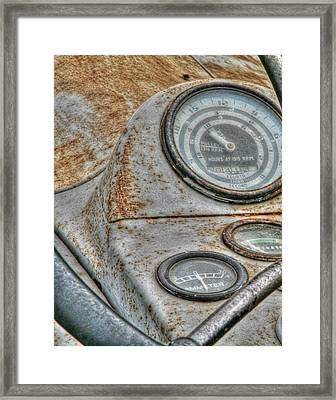 Old Farm Tractor Framed Print by Heather Allen