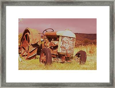 Old Farm Tractor  Framed Print by Jeff Swan