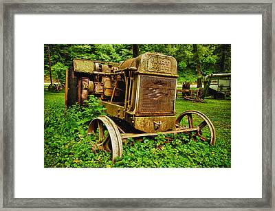 Old Farm Tractor Framed Print