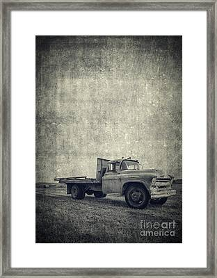 Old Farm Truck Cover Framed Print by Edward Fielding