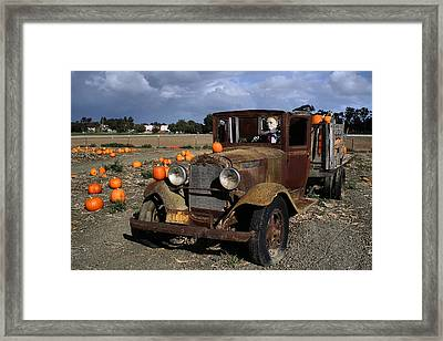 Framed Print featuring the photograph Old Farm Truck by Michael Gordon
