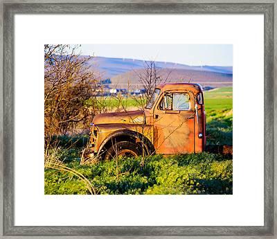 Old Farm Truck Framed Print by Steve G Bisig