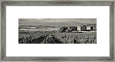 Old Farmhouse In Val D'orcia Tuscany Italy Framed Print