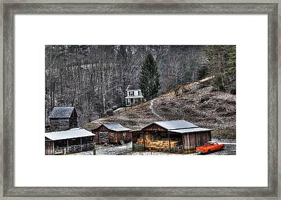 Old Farmstead 1 Framed Print by Todd Hostetter
