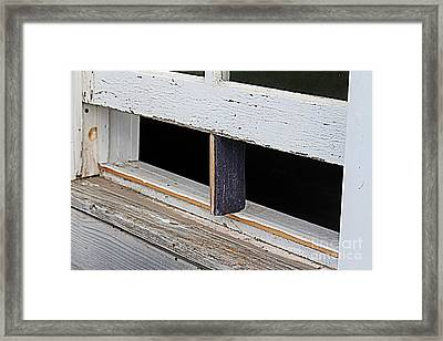 Framed Print featuring the photograph Old Fashioned Air Conditioning by Ann E Robson