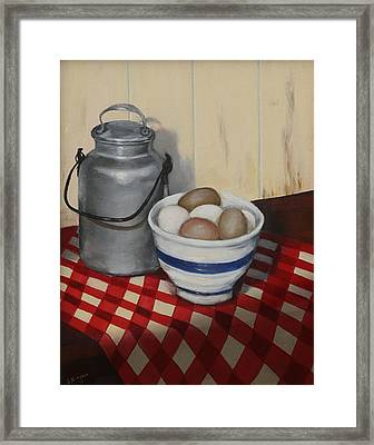 Old Fashioned Breakfast Framed Print