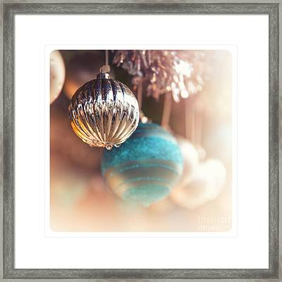 Old-fashioned Christmas Decorations Framed Print by Jane Rix