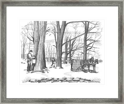 Old Fashioned Maple Syruping Framed Print by Richard Wambach