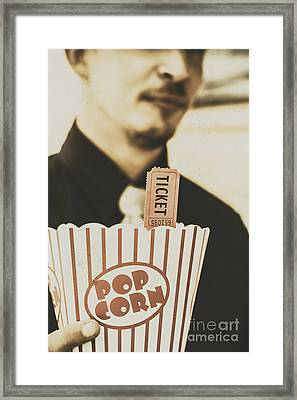 Old-fashioned Movies Framed Print