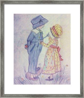 Old Fashioned Romance Framed Print by Christy Saunders Church
