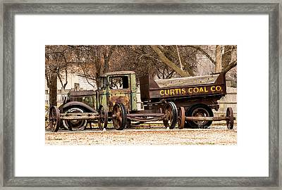 Old Fashioned Rusty Coal Delivery Truck Framed Print by Gary Whitton