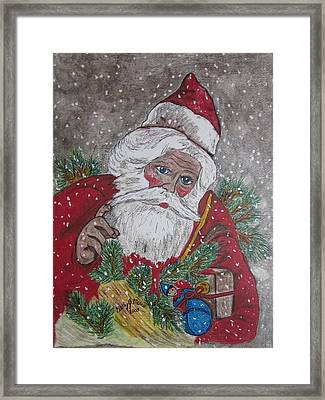 Old Fashioned Santa Framed Print by Kathy Marrs Chandler