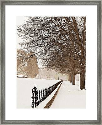 Old Fashioned Winter Framed Print