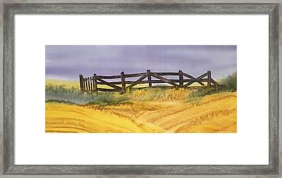Old Fence Framed Print