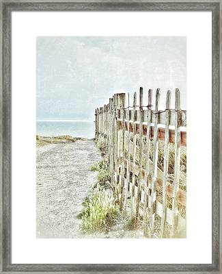 Old Fence To The Sea  Framed Print