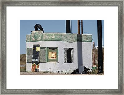 Old Filling Station Framed Print