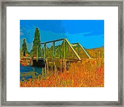 Old Firehole Bridge Framed Print