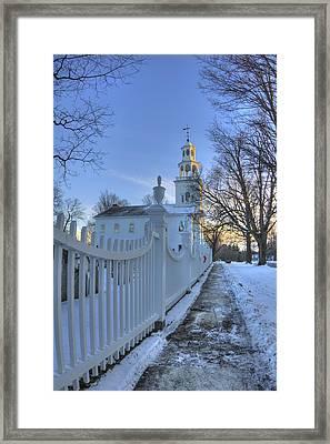 Old First Church - Bennington Vermont Framed Print