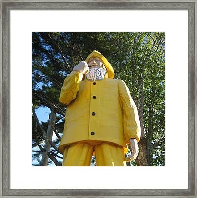 Old Fisherman Statue Boothbay Harbor Maine Framed Print