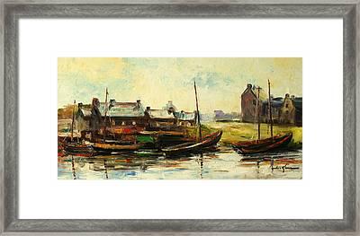 Old Fisherman's Village Framed Print