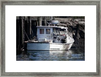 Old Fishing Boat Framed Print by Loriannah Hespe