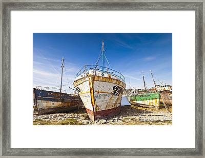 Old Fishing Boats Camaret-sur-mer Brittany France Framed Print