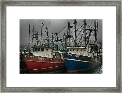 Old Fishing Boats Framed Print