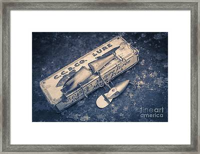 Old Fishing Lures Framed Print by Edward Fielding