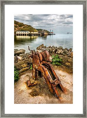 Old Fishing Port Framed Print by Adrian Evans