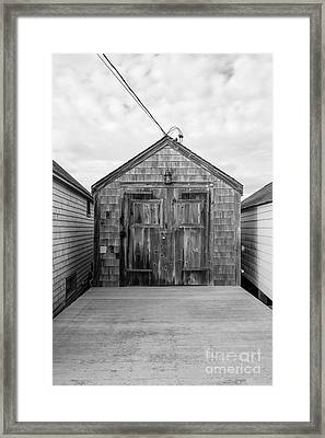 Old Fishing Shack Little Boars Head Rye Nh Framed Print by Edward Fielding