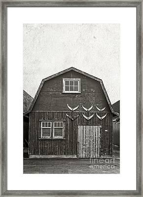 Old Fishing Shack Pei Framed Print by Edward Fielding