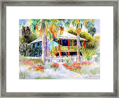 Old Florida House  Framed Print by Joan Dorrill