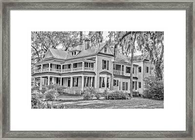 Old Florida Mansion Framed Print by Cliff C Morris Jr
