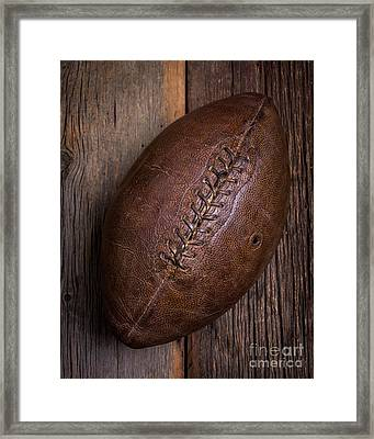Old Football Framed Print by Edward Fielding