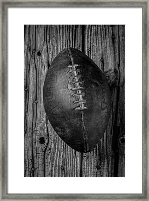 Old Football Framed Print by Garry Gay