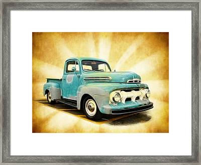 Old Ford Art Framed Print