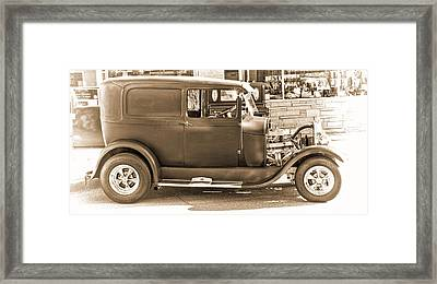 Old Ford Framed Print by Cathy Anderson