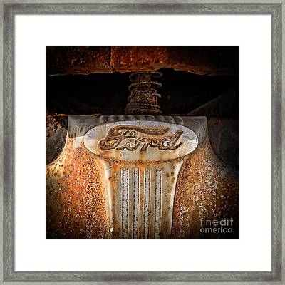 Old Ford Framed Print by Edward Fielding
