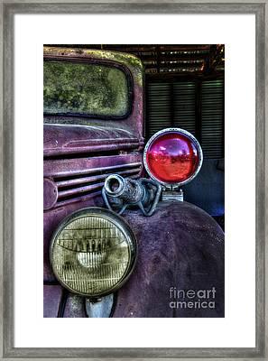 Old Ford Firetruck Framed Print