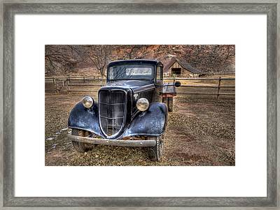Old Ford Flatbed Framed Print by Wendell Thompson